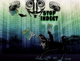 Anonymous DIGITAL ART Stop INDECT by OpGraffiti
