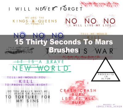 15 Brushes 30 seconds to mars by lovelives4ever