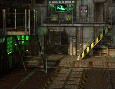 Loading Dock and Cargo Hold by ann0314