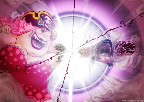 Luffy vs Big Mom : Clash of conquerors by Charly-Z