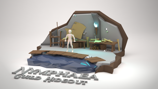 Low Poly Diorama - Nymphaea Guild Hideout (WIP) by MacLellan