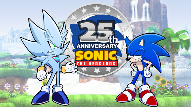 Sonic and Nazo celebrate his 25th Anniversary! by Chakra-X