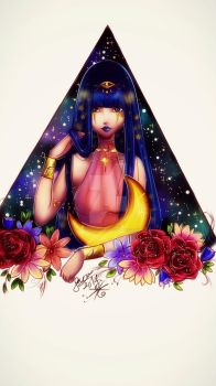 Nephthys by MoonlightArt13