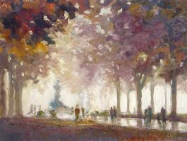 Avenue on an Autumn Afternoon by litka