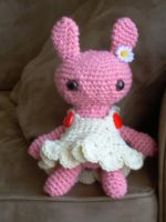 Pink Crochet Bunny by Aseka