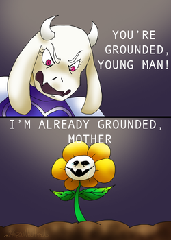 Flowey is grounded by HezuNeutral