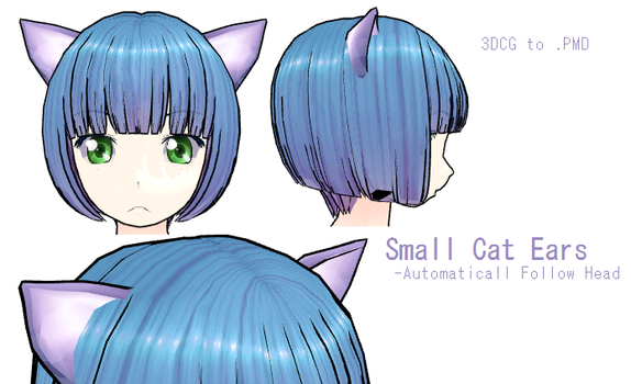 MMD- small cat Ears -DL by MMDFakewings18