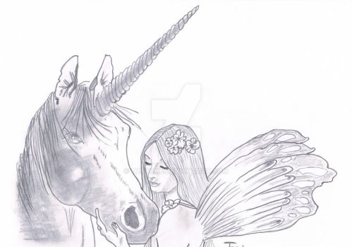 fairy with unicorn by taschke