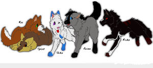 Wolf characters by Stolzer