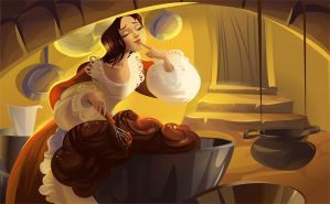 Dealing with dragons: chocolate mousse by Zzanthia