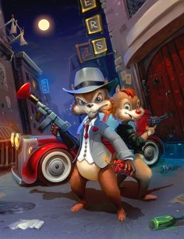Chip 'n Dale by kriolin