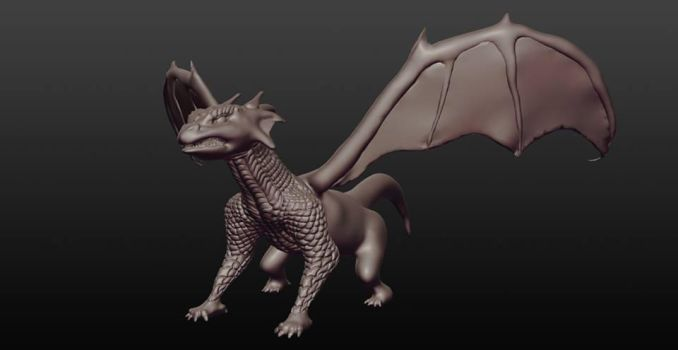 Dragon - 3D Model (WIP) by Terror-Inferno