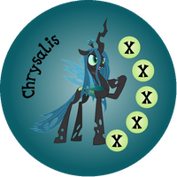 Button Ponies Chrysalis Game Button by Loaded--Dice