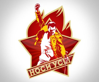 Freddie Mercury pioneer badge by nasikan