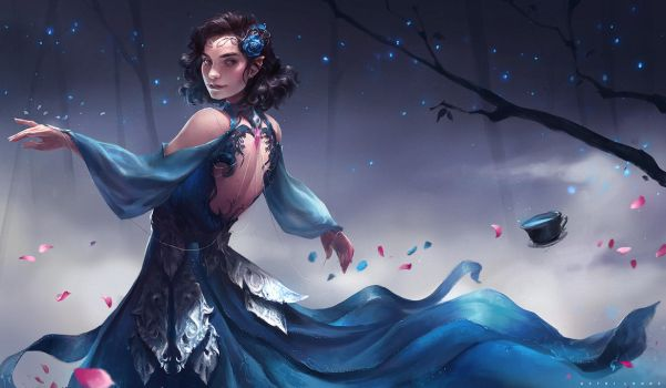 Blue Rose by Astri-Lohne