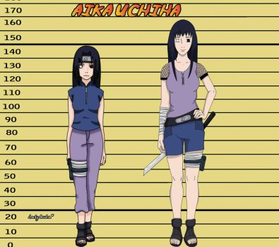 Aika Uchiha before after by LadyAruba