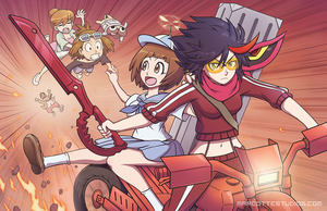 Kill La Kill - Red Riding by marcotte