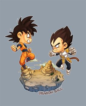 SD goku and vegeta by oume12