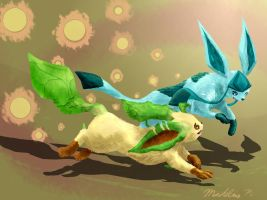 Frolicking Together by LittleMads