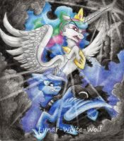 Fighting the storm by Lunar-White-Wolf