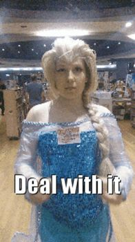 Deal with it ~Elsa (GIF) by Estefania90