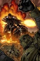 Gears of War 17 cover by Wesflo