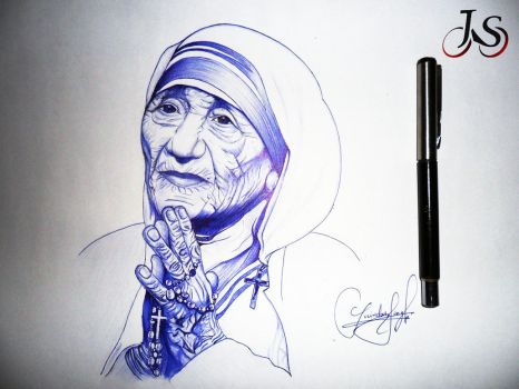 Mother Teresa by jayo07