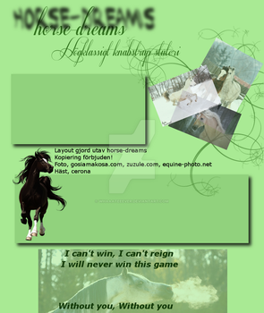 Layout for howrse by Whaaateeever
