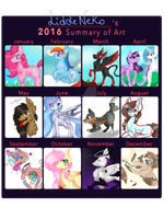 Wow [2016 Summary of art] by LiddieNeko