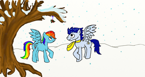 Under the Mistletoe (colored) by aynstainxpenelope