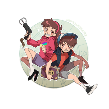 Gravity Falls - Pine Twins by ABD-illustrates