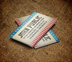 American Stars and Stripes Business Card by es32