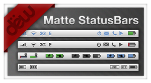 MatteStatusBars for iPhone by dew825