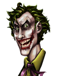 Joker Painted Head by Celestialen