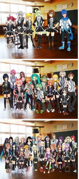 Vocaloid Collaboration: Class Picture by NeoSailorCrystal