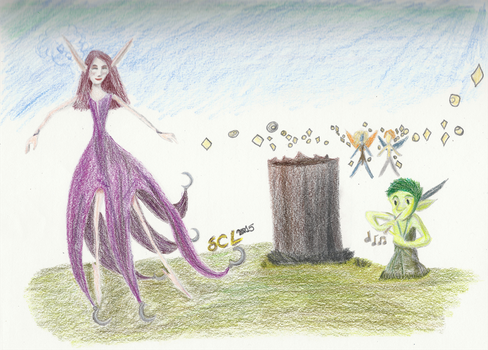 Dancing, Musical Faeries by SarahRiddle