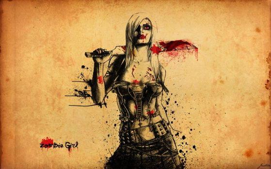 Zombie Girl by JusticeBleeds