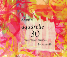 electrified aquarelle brushes by kanonliv