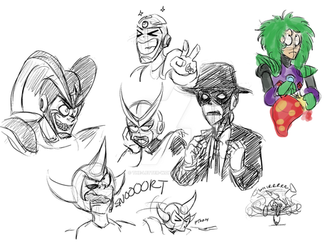 Sketchdump 061115 by The-Letter-W