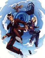 the Doctor and Rose by taintedsilence