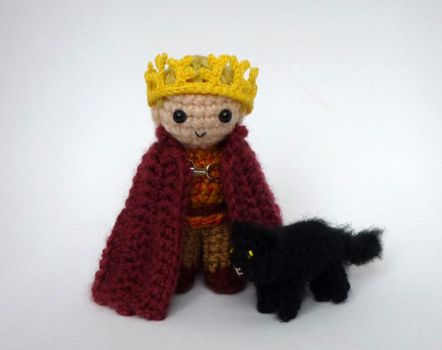 Tommen and Ser Pounce by LunasCrafts