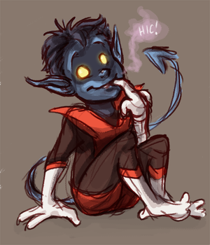Baby Nightcrawler hiccups by ph00