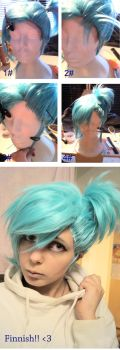 Make a fake Lace front on you Wig by ShadowFox-Cosplay