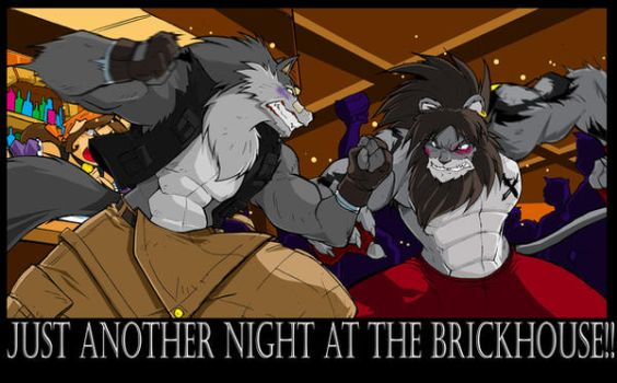 Barfight Comm.Shred-n-Karmakat by ShoNuff44