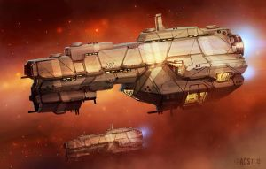The Protectorate Wars Ships by Shimmering-Sword