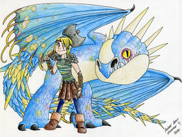 Astrid and her Deadly Nadder by CavySpirit