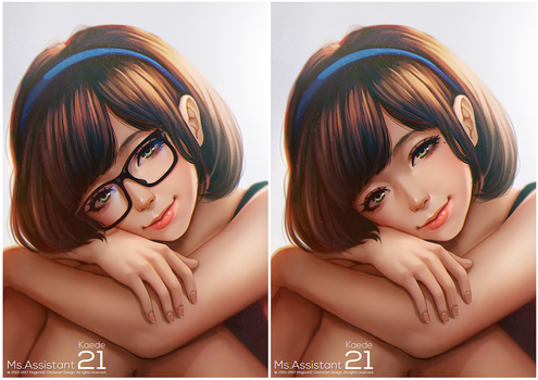 Ms.asssistant Kaede remastered by magion02