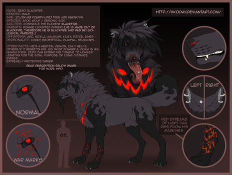 Zero Blackfire's Wolf Form by xKoday