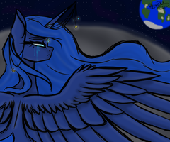 Princess Luna  Open Collab by TheFoxyCrew-Mlp