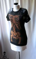 Bleach Skeleton Lace Tee 4 by smarmy-clothes